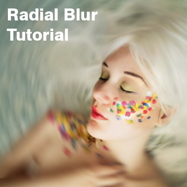 how to use radial Blur effect on PicsArt