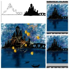 dccastle drawing drawstepbystep castle lanterns