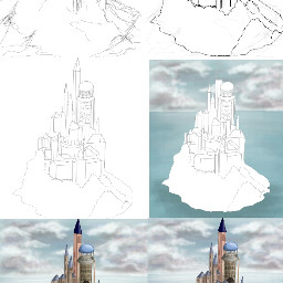 castle drawstepbystep drawing draw