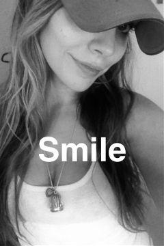 cute blackandwhite smile