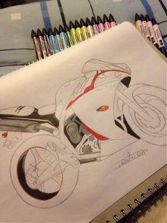 r1 promarker yamaha drawing motorbike