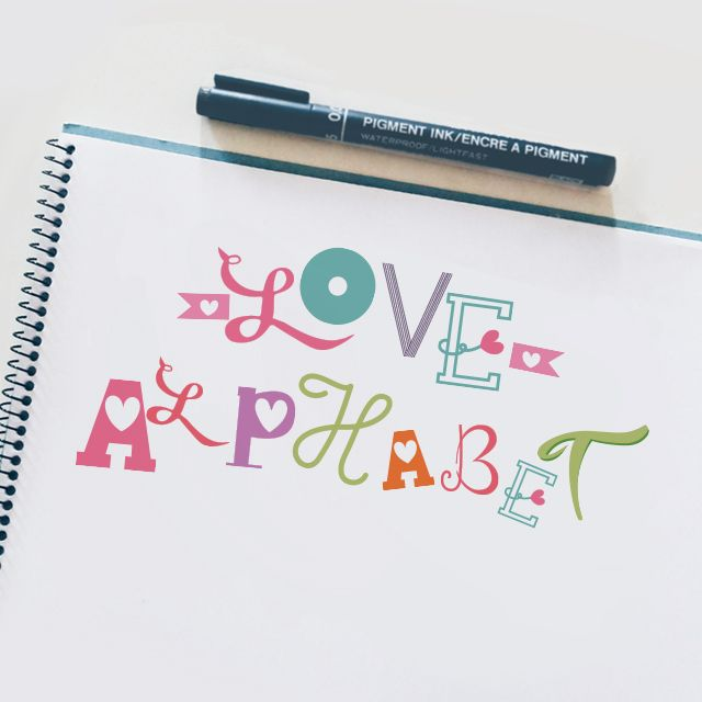 love alphabet fonts