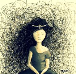 dcprincess drawing art dreamer girl
