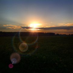 waplensflare sunset italy country countryside sun sky orange yellow