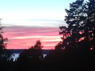 sunset balcony summer finland